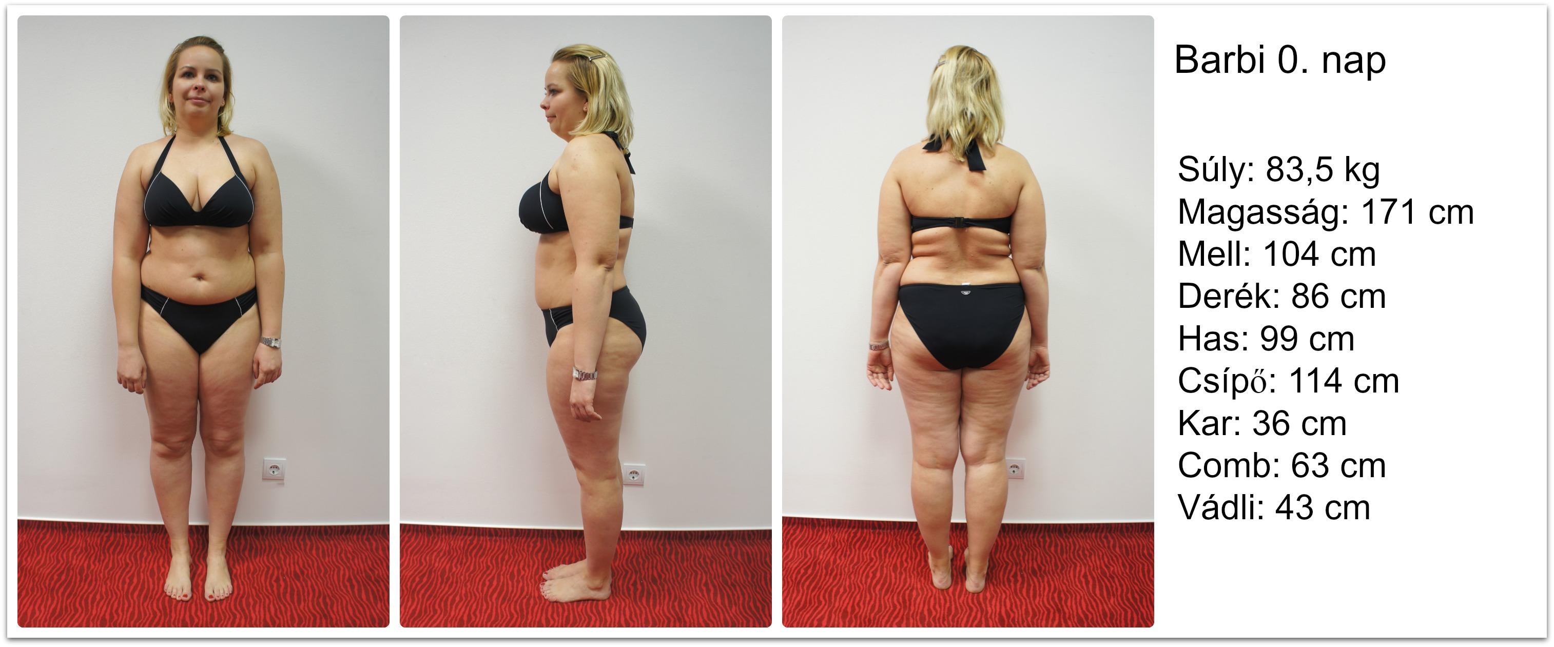 profil fogyás előtt és után 95– 60 kg fogyás