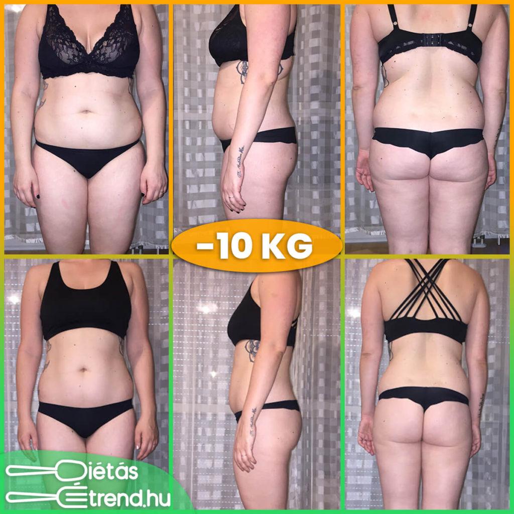 10 kg fogyás étrend